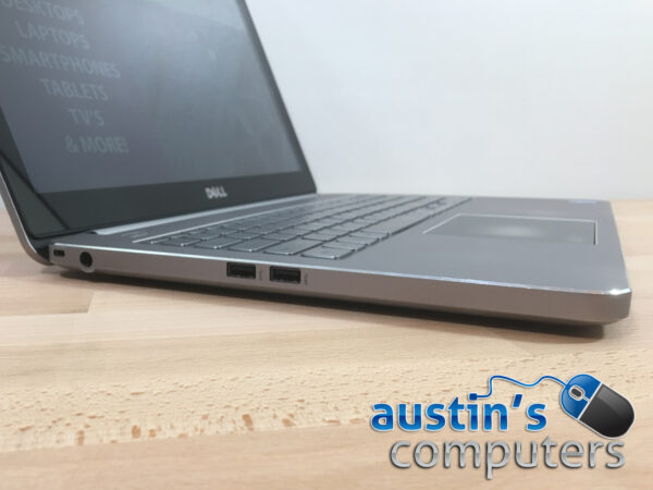 """Silver Dell 15.6"""" Touch Screen Laptop Computer"""